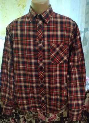 Рубашка фланелевая рубашка в клетку
