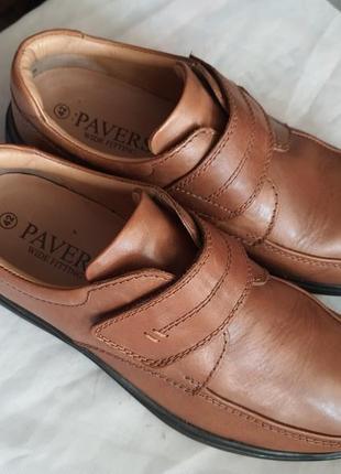Pavers wide fitting мягкая натуральная кожа 42 р туфли люкс класса