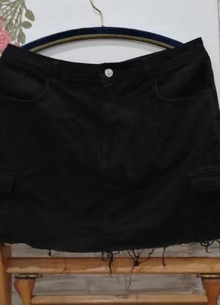 Юбка чёрная карго