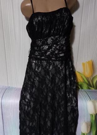 Обалденное кружевное платье размер 48/50