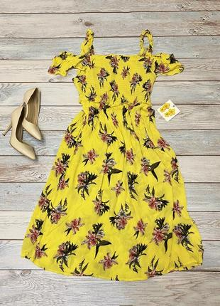 Желтое платье в цветы 🌼
