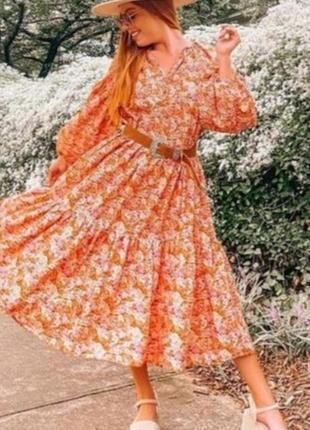 Эффектное женское летнее платье