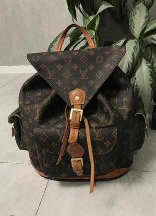 Кожаный рюкзак монограмм louis vuitton