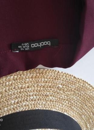Платье пиджак вечернее бордовое марсала boohoo m2 фото