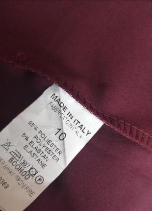 Платье пиджак вечернее бордовое марсала boohoo m4 фото