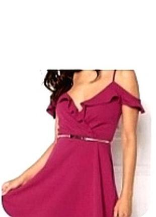 Летнее яркое платье сарафан с открытыми плечами
