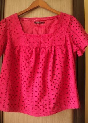 Натуральная шикарная кружевная блуза. прошва