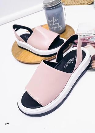 Женские босоножки, кожаный тапочки, женские кожаные сандалии