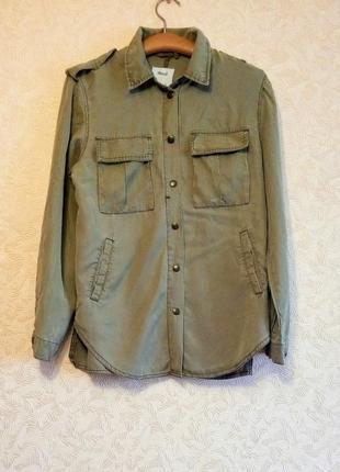 Крутая рубашка denim co, цвет хакки, милитари