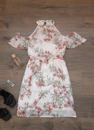 Стильное платье/сарафан с красивым принтом