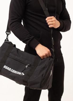 Спортивная сумка армированная укреплённая прочная дорожная черная  для спортзала