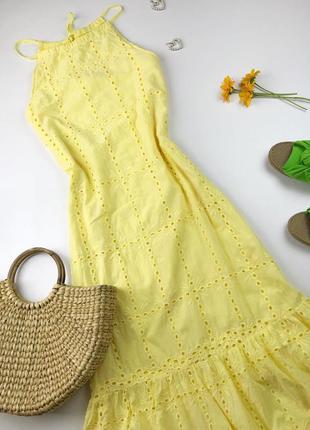 Шикарна сукня максі з прошви