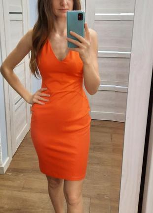 Коралловое платье  reserved
