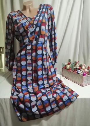 Натуральное платье принт