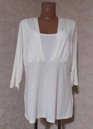 Блуза реглан цвет айвори, autograph, 5xl