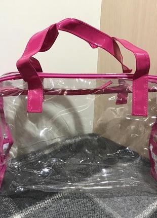 Женская прозрачная сумочка косметичка next