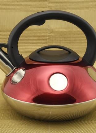 Чайник a-plus со свистком 2.6 л (1374-wk) (4 цвета)1 фото