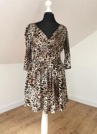 Леопардовое мини платье