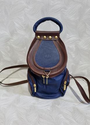 Красивый кожаный рюкзачок vera pelle