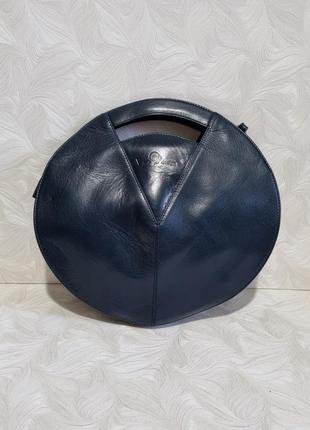 Интересная кожаная сумка