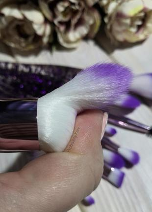 10 шт кисти для макияжа набор purple/purple probeauty7 фото