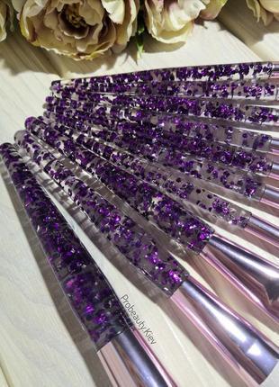 10 шт кисти для макияжа набор purple/purple probeauty6 фото