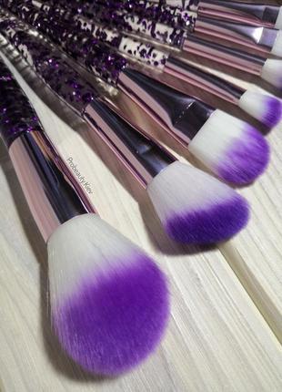 10 шт кисти для макияжа набор purple/purple probeauty3 фото