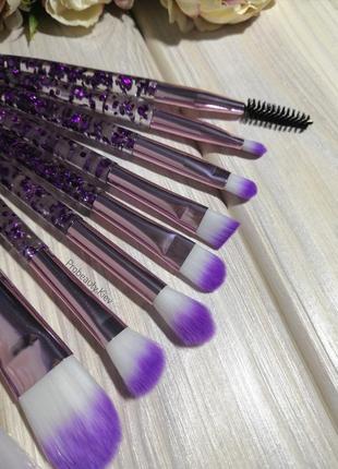 10 шт кисти для макияжа набор purple/purple probeauty4 фото