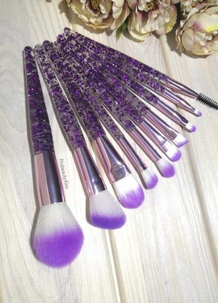 10 шт кисти для макияжа набор purple/purple probeauty