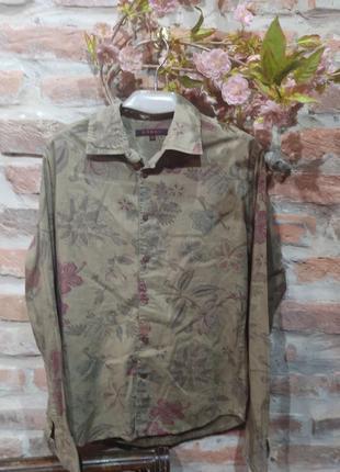 Хлопковая рубашка в цветы