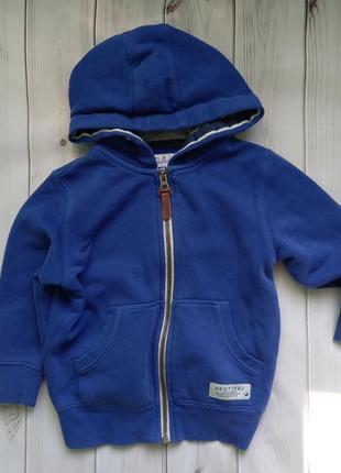 Толстовка кофта спортивная синяя на мальчика 104