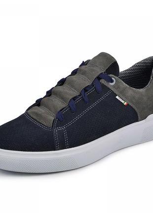 Мужские туфли на плоской подошве на шнурках  нубук замша весенние/летние/осенние 2021