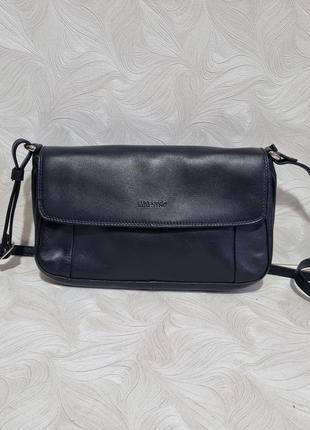 Темно-синяя кожаная сумка maestro