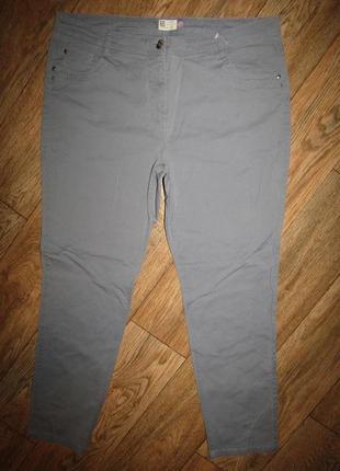 Тонкие зауженные брюки р-р 16-18 бренд c&a