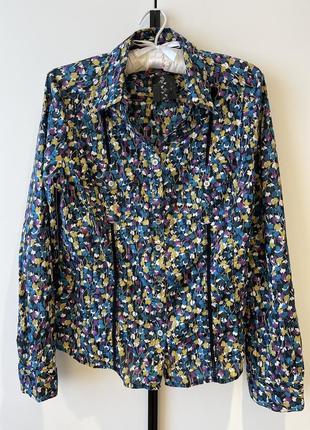 Красочная рубашка- блуза