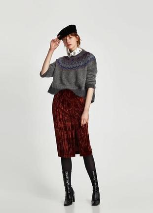 Новая,вельветовая ,бархатная,велюровая юбка,винтаж,ретро стиль, zara