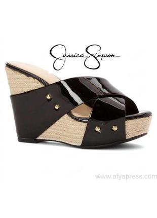 Jessica simpson оригинал босоножки сабо на танкетке и платформе бренд из сша