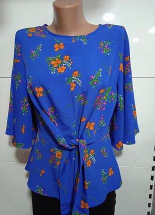Шикарная легкая блузка синего цвета