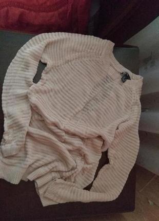 Пудровый тонкий свитерок от mango.xs.