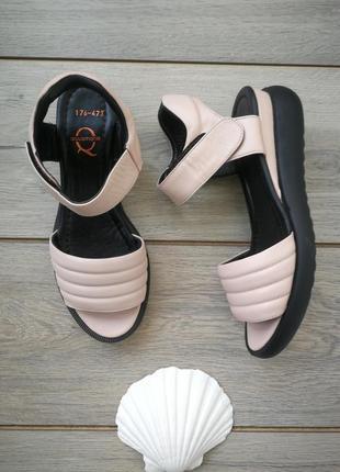 Босоножки/сандали пудровые