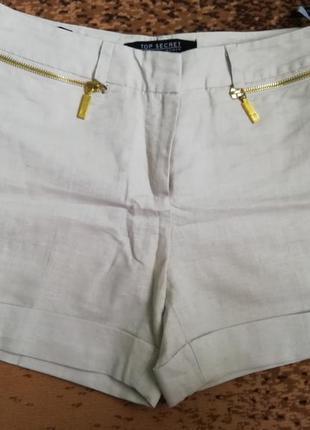 Продам светлые шорты из льна