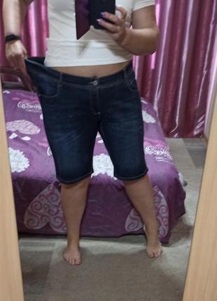 Шорты джинсовые 58+, батал