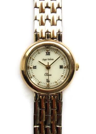 Sergio valente классические часы из сша швейцарский механизм isa