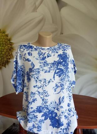 """Блуза""""голубі квіти"""""""