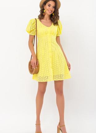 Красивое летнее платье хлопок новинка