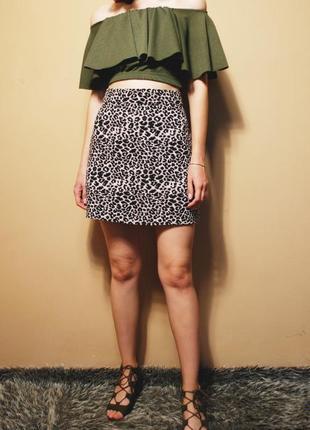 """Новая красивая женская """"леопардовая"""" юбка george"""