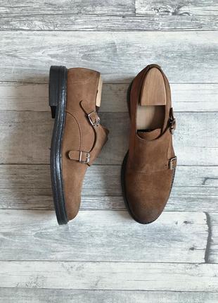 Итальянские кожаные туфли монки andre
