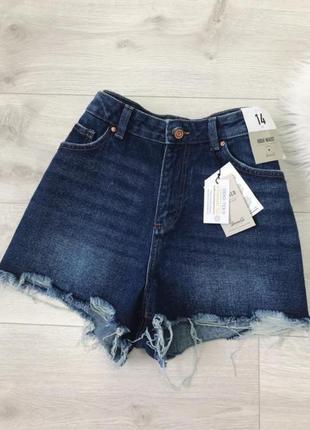 Классные джинсовые шорты мом denim co
