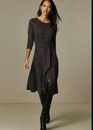 Стильное платье миди, wallis, размер 10-12