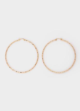 Серьги кольца блестящие asos